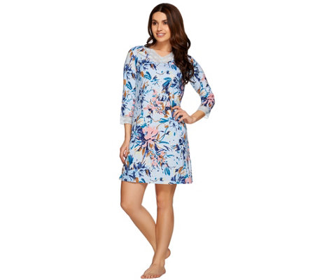 Isaac Mizrahi Live! Confetti Floral Print Sleep Dress