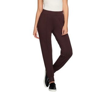 H by Halston Knit Pintuck Seam Pull-On Jogger Pants - A272287