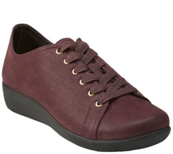 """As Is"" Clarks Cloud Stepper Lace-up Sneakers - Sillian Glory - A275187"