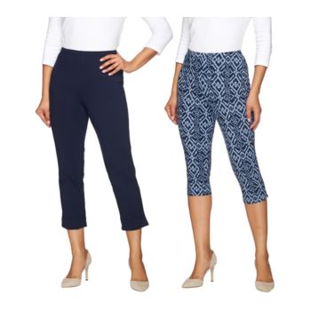 Women with Control Regular Printed Pedal Pushers and Crop Pants