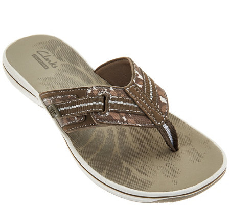 Clarks Sport Thong Sandals with Adj. Strap - Brinkley Jazz