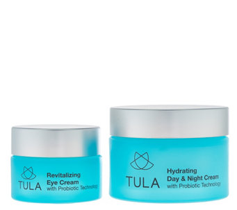 TULA Probiotic Skincare Hydrating Day and Night Cream and Eye Set - A279887