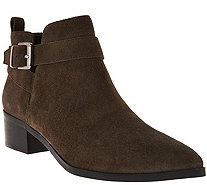 Marc Fisher Suede Pointed Toe Ankle Boots - Ireene - A282787