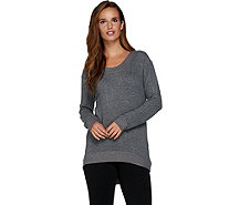 AnyBody Loungewear Brushed Hacci Hi-Lo Sweatshirt - A283787