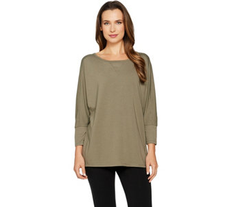 AnyBody Loungewear Cozy Knit Dolman Sleeve Top - A286587