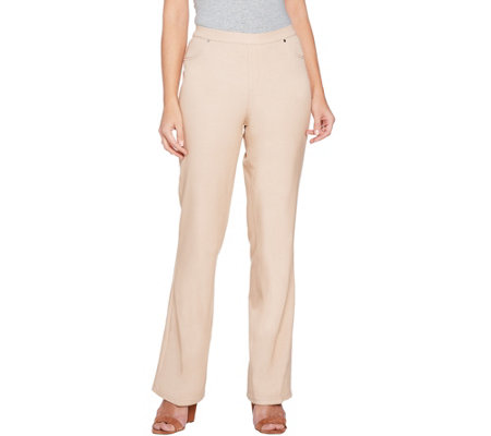H by Halston Petite Studio Stretch Bootcut Pull-on Pants