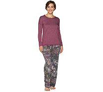 Cuddl Duds Comfortwear French Terry Novelty Pajama Set - A294887