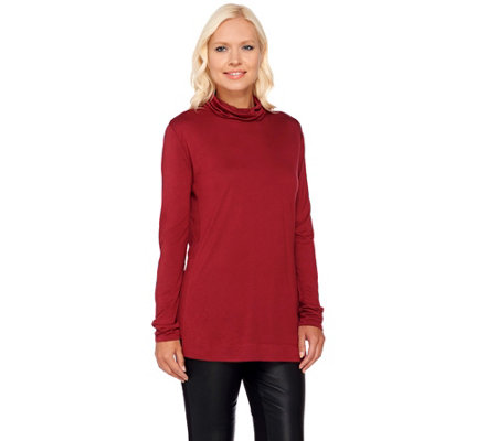 """As Is"" H by Halston Long Sleeve Knit Turtleneck"