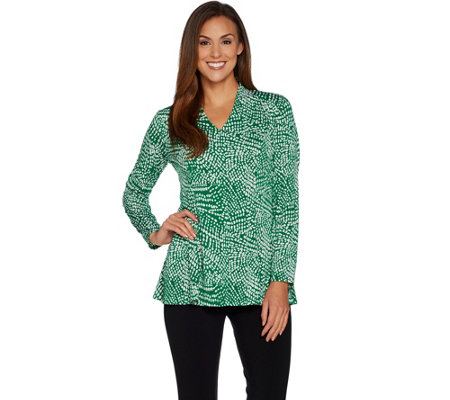 Susan Graver Printed Liquid Knit Fit and Flare Top