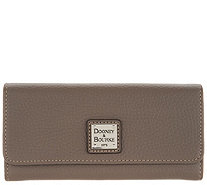Dooney & Bourke Pebble Leather Accordion Clutch Wallet - A300787