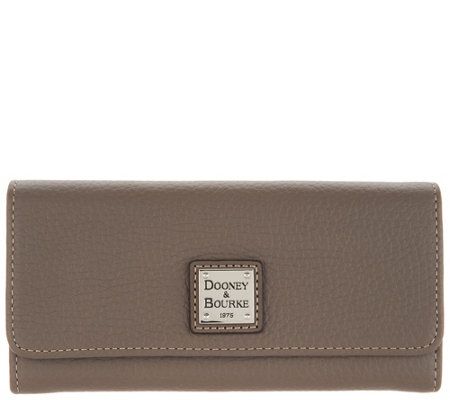 Dooney & Bourke Pebble Leather Accordion Clutch Wallet