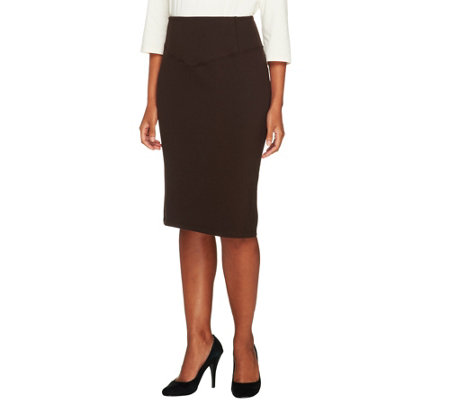 """As Is"" Women with Control Tummy Control Print or Solid Petite Skirt"