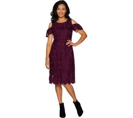 """As Is"" Isaac Mizrahi Live! Special Edition Lace Sheath Dress"