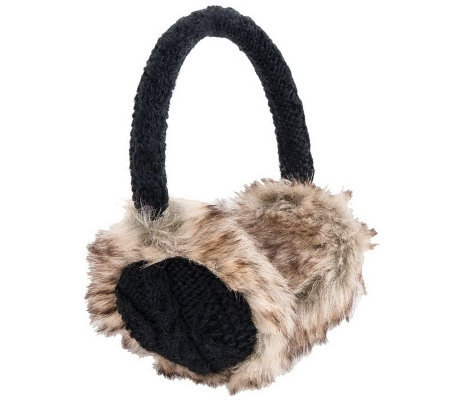 Nirvanna Designs Cable Earmuffs with Faux Fur
