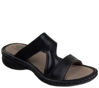 Eastland Leather Slide Sandals - Tawny - A340687