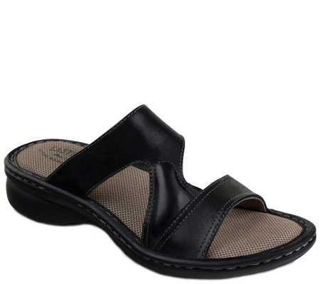 Eastland Leather Slide Sandals - Tawny