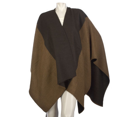 "Woven Color Block 32"" x 52"" Cape by VT Luxe"