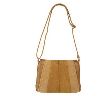 Tignanello Vintage Leather Pleated Crossbody Bag