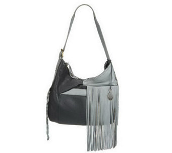 """AS Is"" Muxo by Camila Alves Leather Square Hobo w/Fringe - A228388"