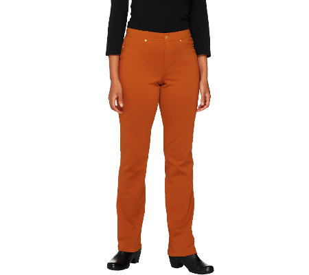 Isaac Mizrahi Live! Icon Grace Regular Ponte Knit Pants