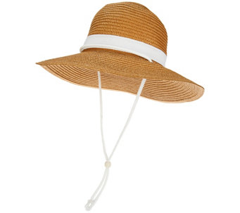San Diego Hat Co. Paper Braid Sun Hat with UPF 50 - A266188
