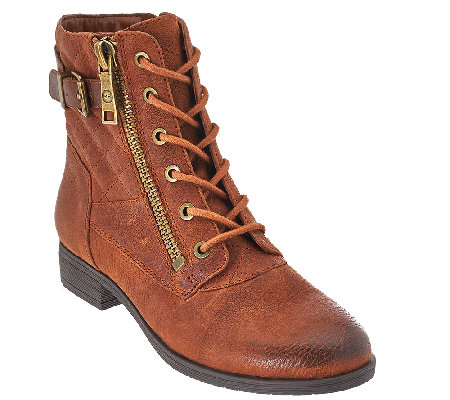 Marc Fisher Leather Lace-up Ankle Boots - Andreya