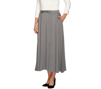H by Halston Knit Jersey Ankle Length Full Skirt - A271088