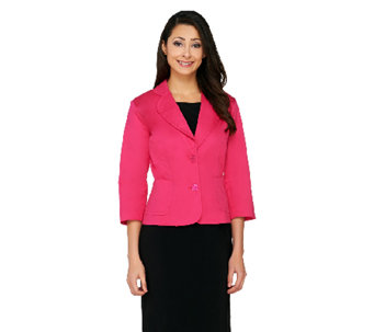 """As Is"" Joan Rivers Simply Chic 3/4 Sleeve Blazer - A272788"
