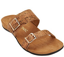 Vionic Orthotic Double Strap Slide Sandals - Ossa - A275288