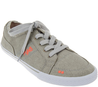 Ryka Canvas Lace-up Sneakers - Emory - A275588