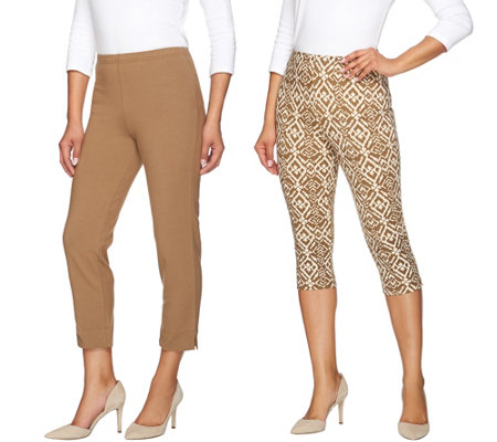 Women with Control Petite Printed Pedal Pushers and Crop Pants
