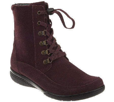 Clarks Suede or Leather Water Proof Lace-up Boots - Kearns Sirena