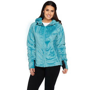 Loki Women's Cozy Cabin Fleece Jacket w/ Built-in Gloves - A282188