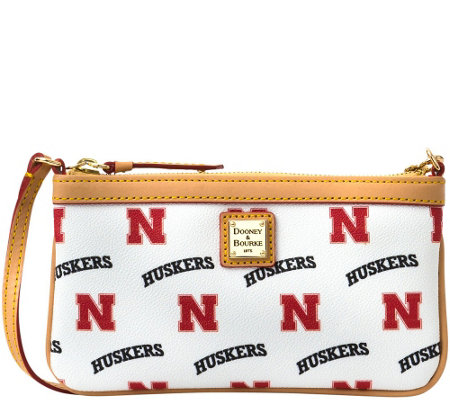 Dooney & Bourke NCAA University of Nebraska Slim Wristlet