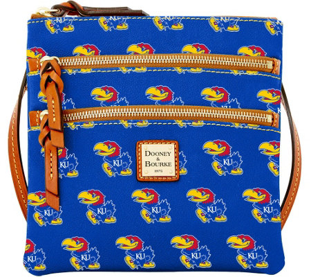 Dooney & Bourke NCAA University of Kansas Zip Crossbody