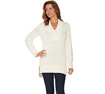 Isaac Mizrahi Live! Crossover V-neck Sweater Tunic - A284088