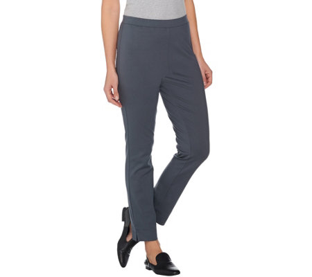 Susan Graver Ponte Knit Pull-On Ankle Pants