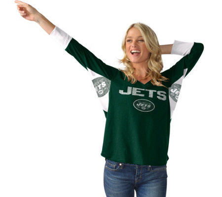 NFL Hands High Womens 3/4 Sleeve Tee by Jimmy Fallon