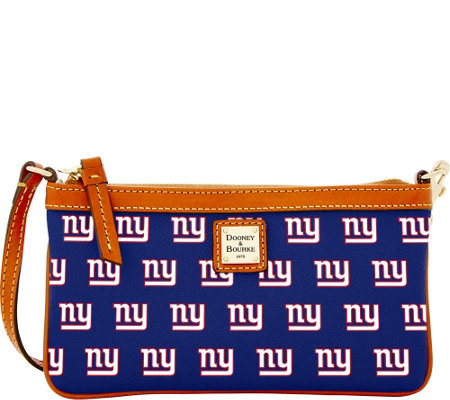 Dooney & Bourke NFL Giants Large Slim Wristlet