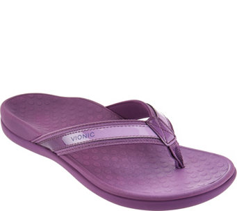 Vionic Orthotic Leather & Mesh Thong Sandals - Tide II Ombre - A286388