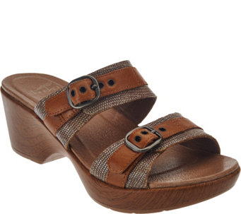 """As Is"" Dansko Leather Double Strap Sandals with Buckles - Jessie - A286488"