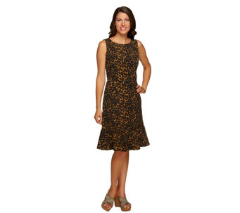 """As Is"" Isaac Mizrahi Live! 24/7 Stretch Animal Print Dress - A291488"