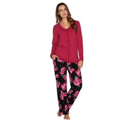 Stan Herman Petite Micro Fleece Novelty Pajama Set