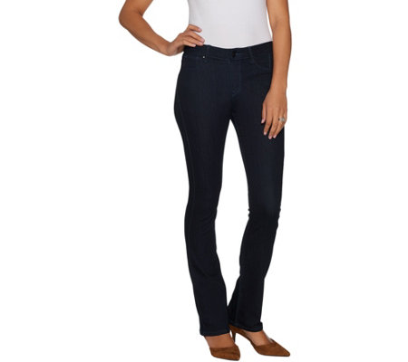 """As Is"" Laurie Felt Regular Silky Denim Baby Bell Pull-On Jeans"