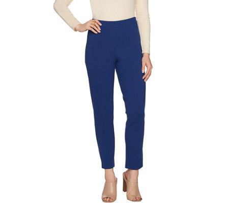 """As Is"" Joan Rivers Petite Signature Ankle Pants w/Front Seam Detail"