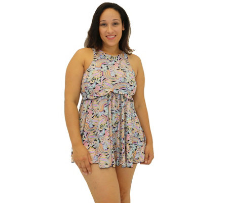 Fit 4 Ur Thighs Freebird Microfiber High-Neck B abydoll Dress