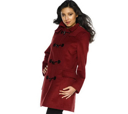 Isaac Mizrahi Live! Wool Blend Duffel Toggle Coat - Page 1 — QVC.com