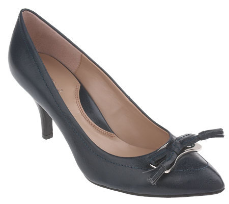 Tignanello Leather Pumps with Bow Detail