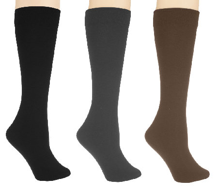 Legacy Set of 3 Flip Side Fleecy Socks