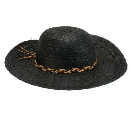 Liz Claiborne New York Paper Straw Floppy Hat
